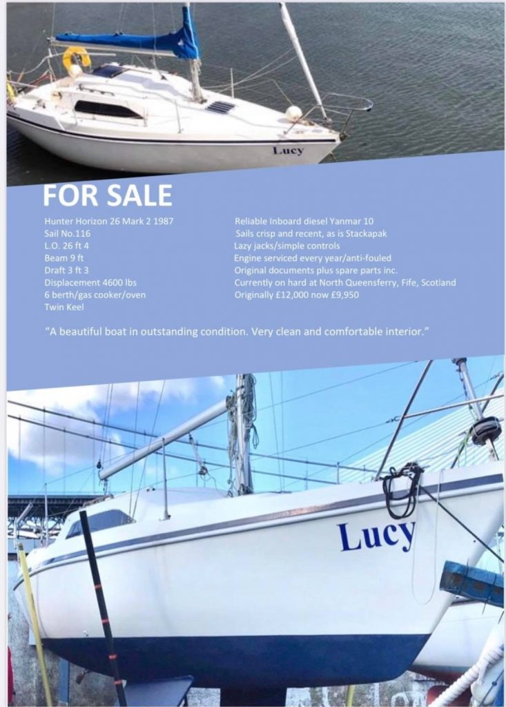 Hunter 26 For Sale